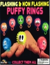 "Flash & Non Flashing Puffy Rings 2"" Toy Capsules 250pcs"