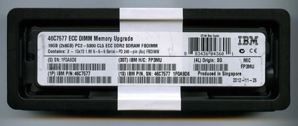 IBM ORIGINAL 46C7577 DDR2 667 16GB FBDIMM KIT (2X8GB)