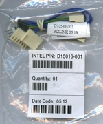 INTEL D15016-001 TWO 4-PIN TO 3-PIN  PROCESSOR FAN ADAPTER CABLES