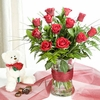 Surprise Rose Bouquet   with bear