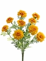 "Set of 6 - 13"" Silk Marigold Flower Bushes"