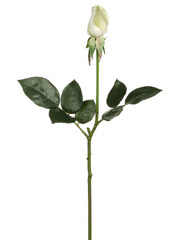 "1 Dozen - 17"" Real Touch Diana Artificial Rose Bud Sprays (shown in White/Green)"