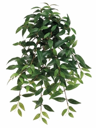 "21"" Artificial Silk Ruscus Hanging Bushes - Set of 12"