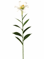 "29"" Artificial Easter Lily Spray Flower x 1 - Set of 12"