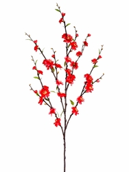 "1 Dozen - 39"" Artificial Silk Cherry Blossom Sprays (Shown in Cerise/Red)"