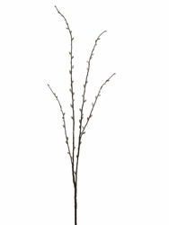 "1 Dozen - 66"" Artificial Wild Pussy Willow Branches"