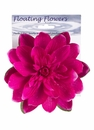 1 Dozen - 7 inch Floating Lotus Flowers with Raindrops in Lavender