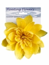 1 Dozen - 7 inch Floating Lotus Flowers with Raindrops in Yellow
