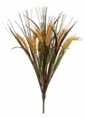 1 Dozen - Artificial Wheat Grass Bushes - 18""