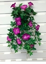 "1 Dozen - 20"" UV Protected Morning Glory Hanging Flower Bushes"
