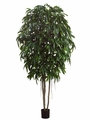 10' Artificial Longifolia Tree with Real Wood Trunks
