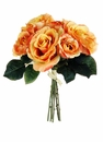 "11"" Artificial Silk Rose Wedding Bouquet Bundle - Set of 12 Bouquets (Shown in Talisman)"