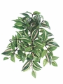 "12"" Artificial Medium Wandering Jew Hanging Bush with 104 Leaves - Set of 24"