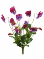 "12"" Artificial Silk Pansy Flower Bush-Set of 12 (shown in Purple)"