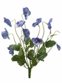 "12"" Artificial Silk Pansy Flower Bush-Set of 12"