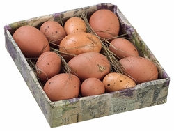 12 boxes of Assorted Brown Eggs (144 total)