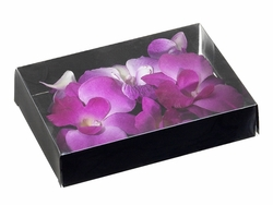 12 Boxes of Floating Dendrobium Orchid Flowers (72 Total)-Shown in Purple