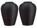 "13.75"" Diameter x 17.75"" High Bamboo Container in Black (Pack of 2)"