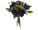 "13"" Artificial Silk Anemone Flowers and Viburnum Berry Bouquet - Set of 6 (Shown in Purple)"