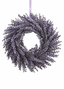 "13"" Artificial Two Tone Colored Lavender Wreath - Set of 6"