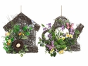 "14""-16"" Mixed Flowers Decor (2 Styles Assortment) - Total 4 Hanging Arrangements"