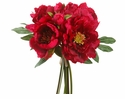 "14"" Artificial Silk Peony Wedding Flower Bouquet Arrangement - Set of 6 (Shown in Beauty)"