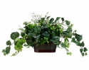"""15"""" Artificial Kangaroo Ivy with Mixed Mini Leaf Plant in Metal Container"""
