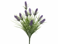 "16.5"" Artificial Lavender Bush Stem - Set of 12"