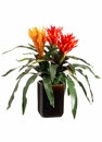 "16"" Artificial Bromeliads Arrangement in Brown Ceramic Pot"