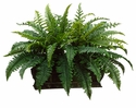 "17"" Artificial Boston Fern Plant Arrangement in Long Metal Container"