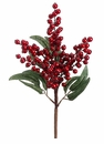 "17"" Artificial Holiday Christmas Berry and Eucalyptus Leaf Spray - Set of 12"