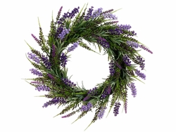 "17"" Artificial Lavender Herb Wreath - Set of 2"