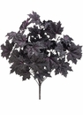 """18"""" Artificial Glittered Maple Leaf Bush with 11 Stems - Set of 12"""