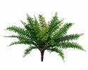 "18"" Artificial Silk  Boston Fern Bush  with 32 Leaves - Set of 12"