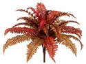 "19"" Artficial Boston Fall Fern Bush  with 24 Fronds - Set of 12"