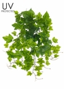 "19"" Outdoor Artificial Grape Leaf Plant - Set of 12"