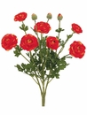 """19"""" Ranunculus Bush with 7 Flowers and 3 Buds - Set of 6"""