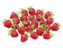 "Medium Artificial Strawberries 1.5"" - 2 Bags"