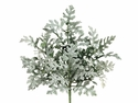 "11"" Silk Flocked Dusty Miller Bushes - 2 Dozen"
