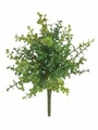 "14"" Artificial Plastic Boxwood Bush with 67 Leaves - 2 Dozen"