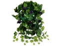 "20"" Artificial Silk Grape Leaf Hanging Bush - Set of 6"