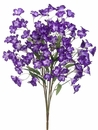 "21"" Artificial Bellflower Flower Bush - Set of 12 (Shown in Purple Two Tone)"