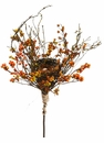 "21"" Artificial Birdnest Pick with Berry & Egg - Set of 6"