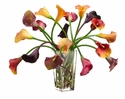 "21"" Artificial Calla Lilies in Glass Vase"