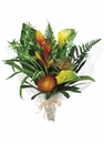 "21"" Artificial Calla Lily and Protea Tropical Bouquet Arrangement - Set of 4"