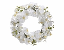 """22"""" Artificial Phalaenopsis Orchid Flower Wreath - Set of 2"""
