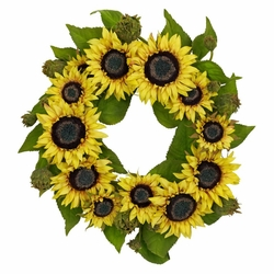 "22"" Sunflower Wreath"