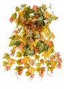 "23"" Artificial Gold ""Glittered"" Ivy Hanging Bush - Set of 6"