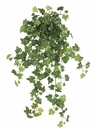 """23"""" Artificial Lace Ivy Hanging Bush with 215 Leaves - Set of 6"""