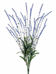 "23"" Artificial Lavender Bush Plant - Set of 12 (shown in blue)"